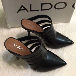 Aldo - Acaren Mule Heeled Booties - Size 6.5